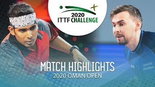 Кирилл Скачков vs Achanta Sharath Kamal | Oman Open 2020 (1/2)