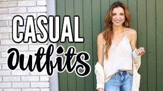 CASUAL OUTFIT IDEAS! |  Casual Chic Lookbook