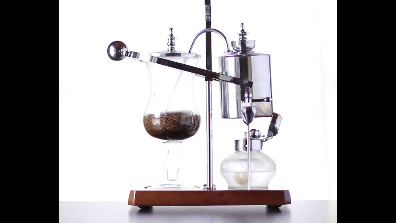 Balance Siphon Coffee Maker Brewing Action