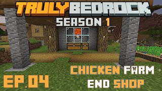 Truly Bedrock S1 E4 The shopping district, chicken farm, and moving mountains