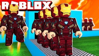 IRON MAN FACTORY IN ROBLOX!! (Tycoon Super Eroe)