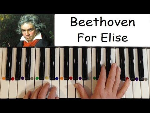 Beethoven - For Elise. Tutorial + Sheet / Обучение + ноты
