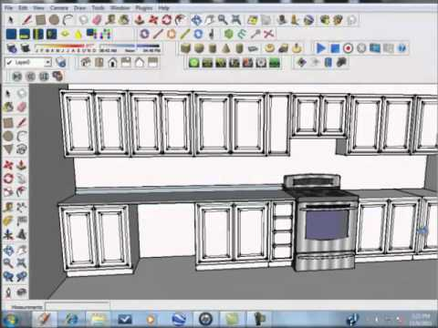 Sketchup Tutorial Kitchen Designs Made Simple And Easy Part 6 Youtube