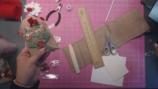 Day 4 - 12 Days of Christmas: Easy Hang Burlap Gift Card Holder
