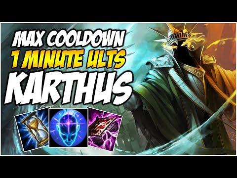 MAX COOLDOWN KARTHUS - 1 MINUTE ULTIMATES | League of Legends