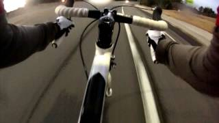 2012 GT Series 5 Road Bike Going Fast Downhill - GoPro Hero 3