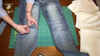 Reparer le jean en ayant un regard plus poussé pour le mettre en valeur. Méthode le plus facile parmi les existantes ! Pourquoi faire compliquer la vie, si on ...