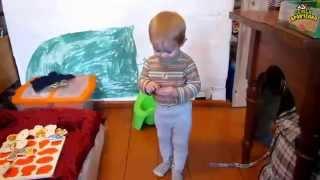 Семья Бровченко. Мы сменили подгузники на горшок. Приучаем ребенка к горшку. (часть 2)