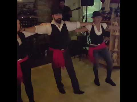 Agalma Greek restaurant, Rhodes. Hasapiko dance. Live Greek music