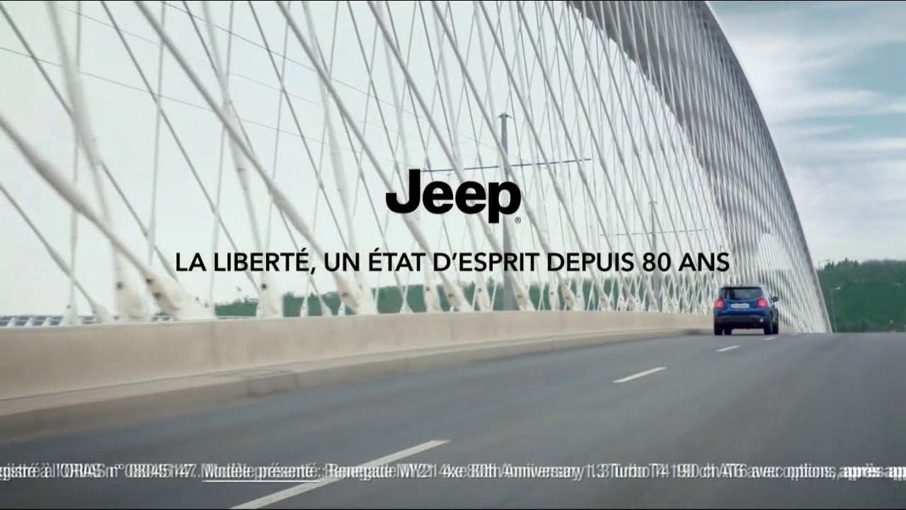 """Musique de la pub Jeep – Gamme Jeep Renegade """"La liberté un état d'esprit depuis 80 ans""""  2021"""