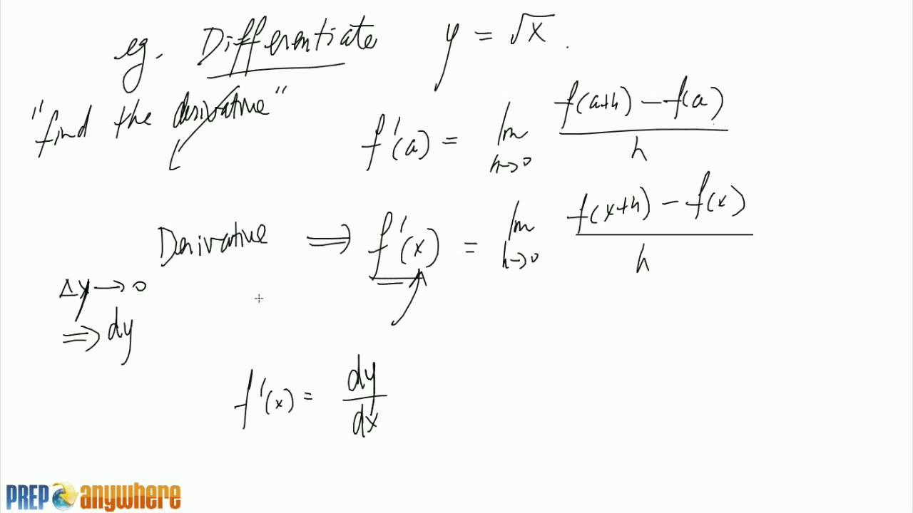3. Derivative of sqrt(x) - YouTube