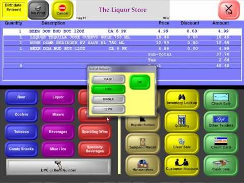 InfoTouch Liquor Store