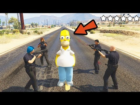 HOMER SIMPSON VS POLICE !