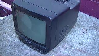 1989 Sony Trinitron Portable Color Television Repair KV-8AD10