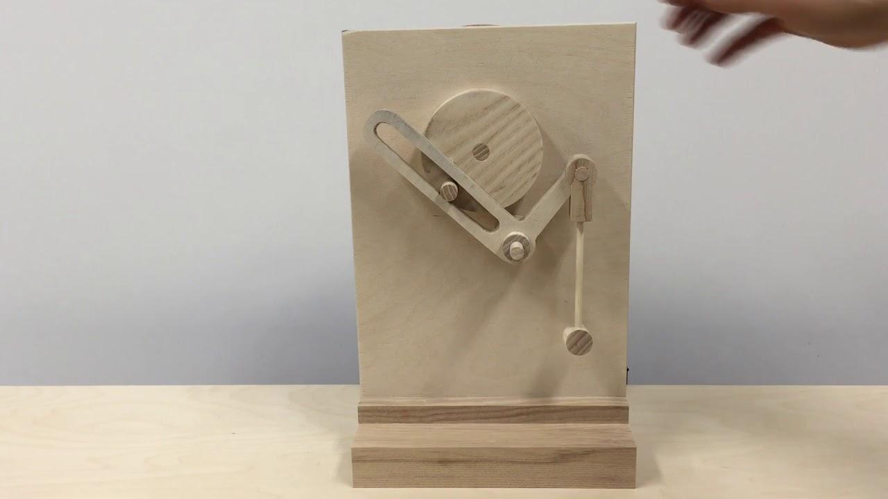 Brass mechanical clock movement