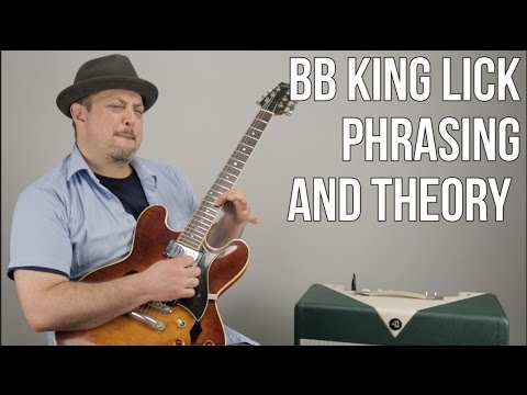 """B.B. King """"BB Box"""" Guitar Lesson - Phrasing and Theory Licks - Mixing Major and Minor"""