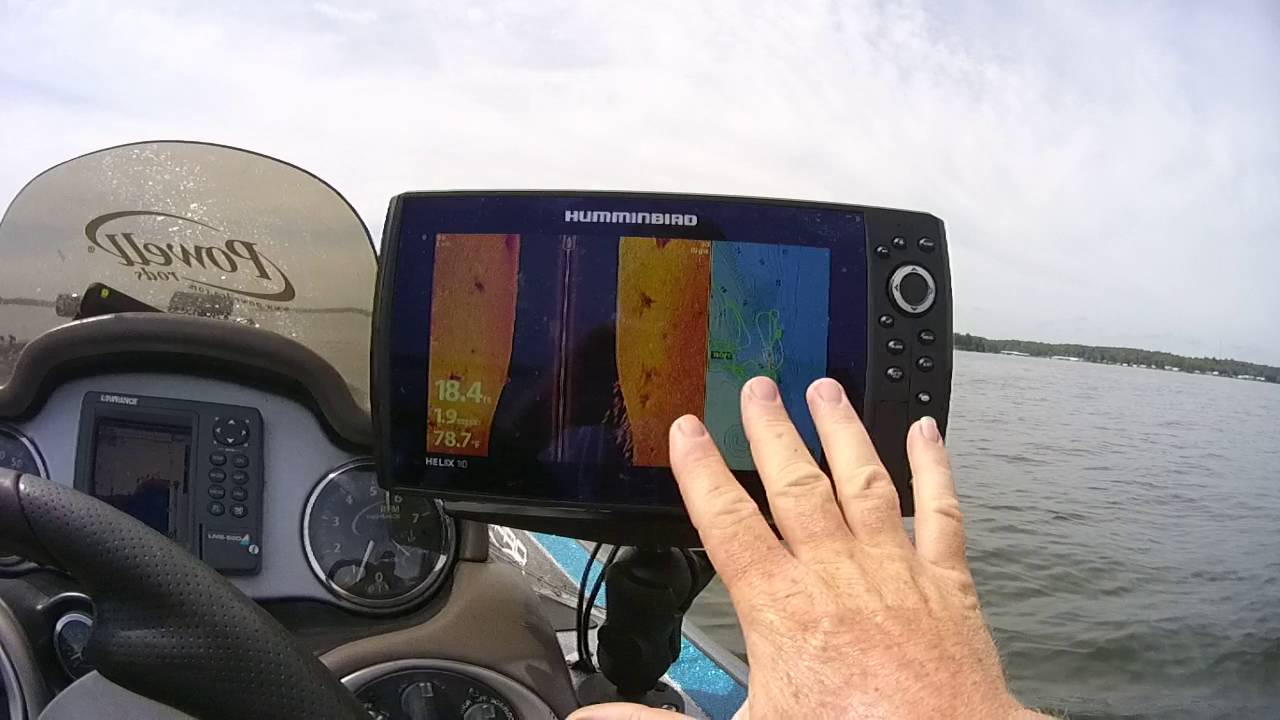 Humminbird Helix Side Imaging And Waypoints Youtube