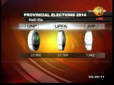 Hali-Ela - Badulla District - Election Results 2014