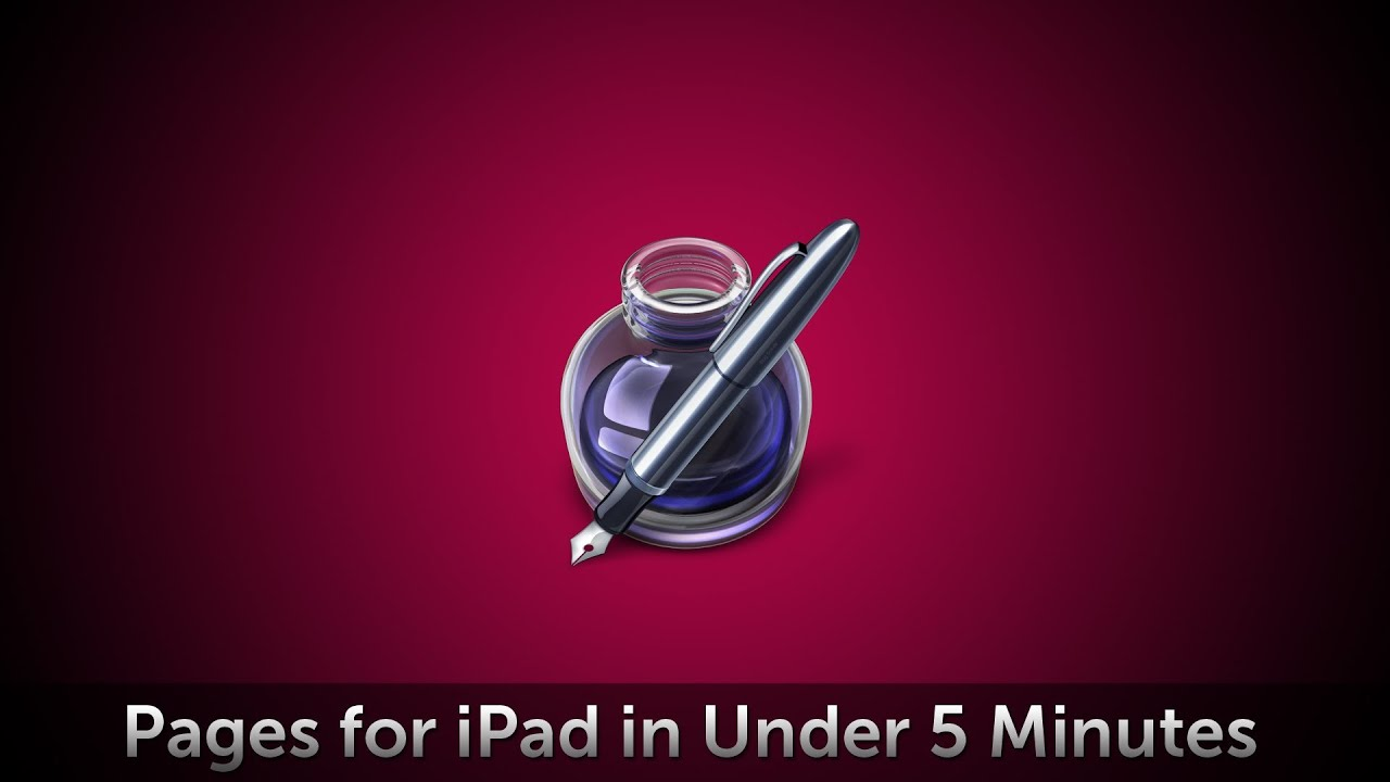 Pages For Ipad In 5 Minutes Youtube
