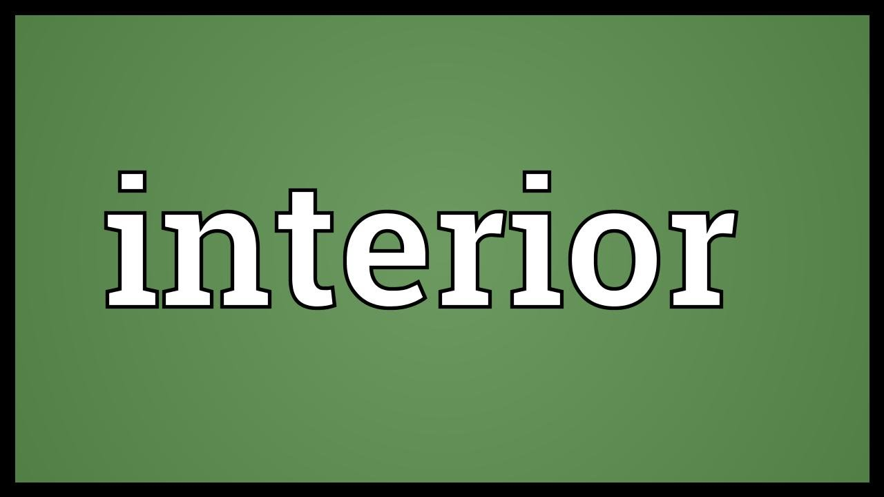 Interior meaning youtube for Interieur meaning