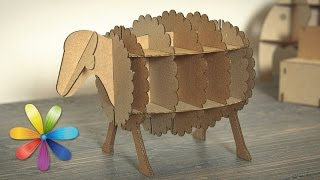 Как из коробки сделать стеллаж для детских книг или игрушек? – Все буде добре-Выпуск 651 - 12.08.15
