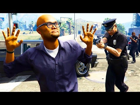 GTA 5 Modded - POLICE MOD! MAKING ARRESTS & GIVING TICKETS!