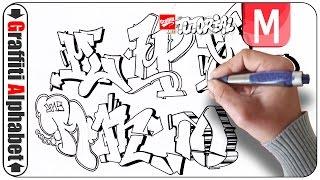 Graffiti Alphabet Buchstabe M - Letra M - Letter M