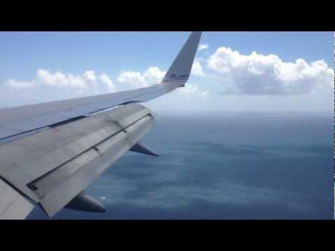 Landing in St. Thomas, Virgin Islands - AAL 757