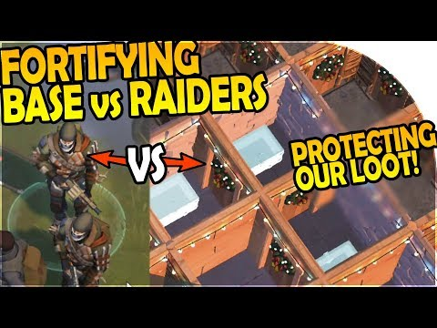 PROTECTING OUR LOOT vs RAIDERS + UPGRADING our BASE DEFENSES - Last Day On Earth Survival 1.7 Update