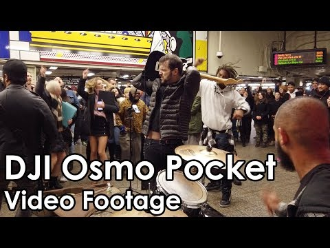 DJI Osmo Pocket Footage – Impromptu Rock Concert In NYC Subway