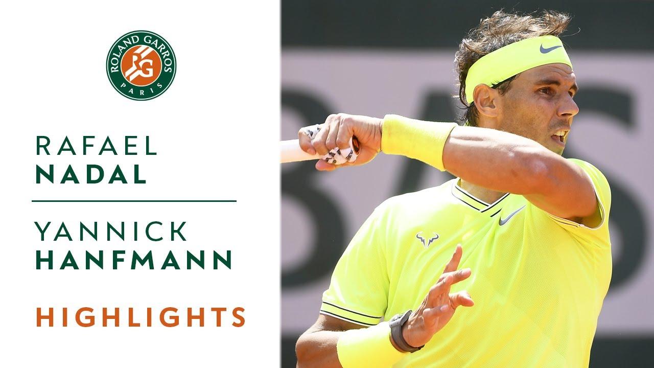 Rafael Nadal Vs Yannick Hanfmann Round 1 Highlights Roland Garros 2019 Youtube