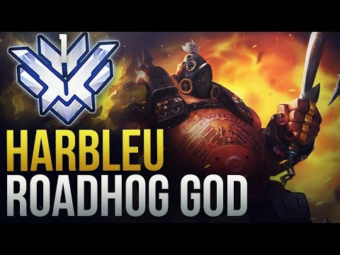 Best of Harbleu - RANK 1 ROADHOG GOD - Overwatch Montage thumbnail