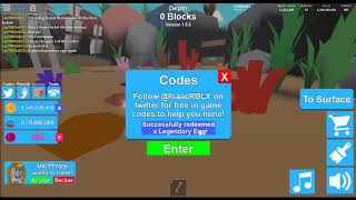 Roblox Mining Simulator Codes! | Part 2