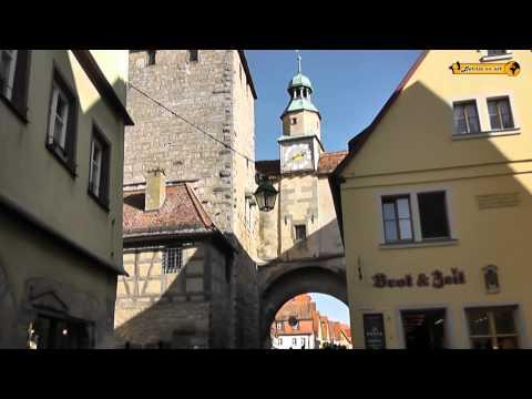 Tourismus Schönheiten von Rothenburg ob der Tauber Bayern