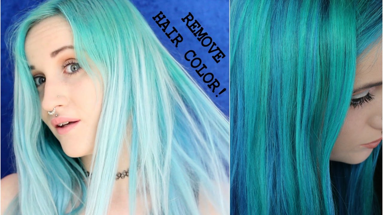 Removing Hair Color Without Bleach Youtube