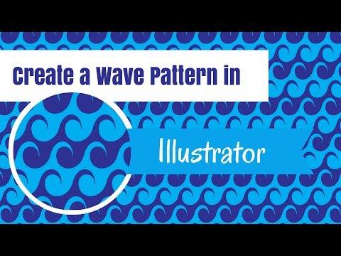 Create Wave Patterns in Illustrator - Making Seamless Pattern Tiles