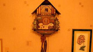 Cuckoo Clock The Busy Woodchopper Black Forest Germany