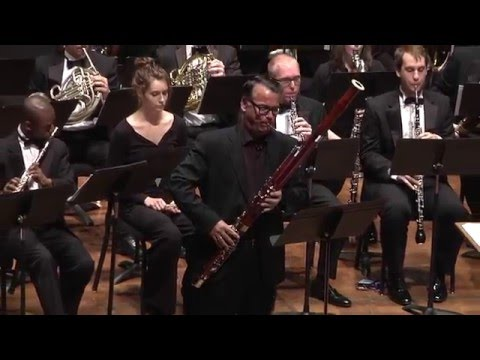UMich Symphony Band - James Stephenson -  Dialogue of Self and Soul, a Concerto for Bassoon, mvt. 1