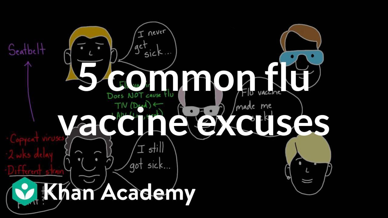5 common flu vaccine excuses
