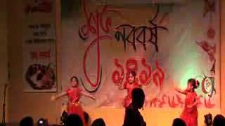 SABCA Boishak Program1419 in 2012- Lal Saree pindibala dance-Akila, Raiana, & Tuktuki.flv