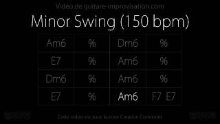 Minor Swing (150 bpm) : Backing track