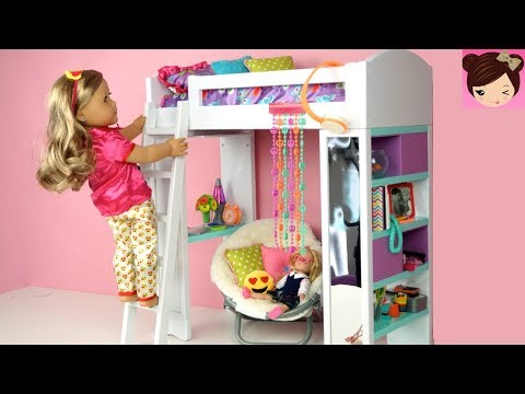 Doll Bunk Bed Bedroom Morning Routine Back To School Ag