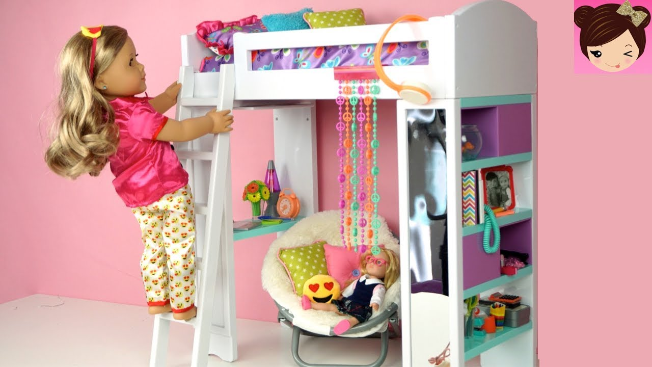 Doll Bunk Bed Bedroom Morning Routine Back To School Ag Doll