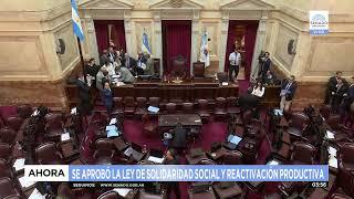 El Senado aprobó y convirtió en ley la Emergencia Económica