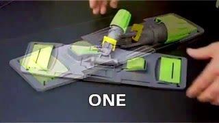 видео Двухведерная уборочная тележка пластик