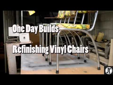 One Day Builds: Refinishing MCM Vinyl Chairs