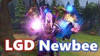 INSANE SKILL Game Sccc Invoker - LGD Newbee - The Summit 6 Dota 2