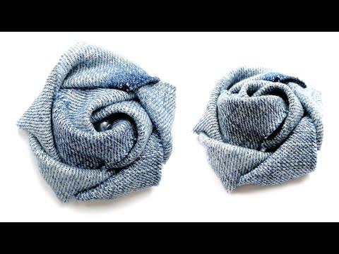 Роза брошь из ткани своими руками