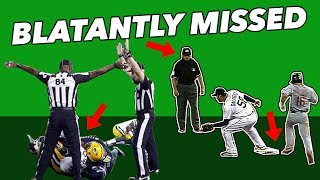 THE FIVE MOST BLATANTLY MISSED CALLS IN SPORTS
