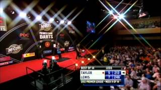 Adrian Lewis vs Phil Taylor │Week 11 Premier League Darts 2012